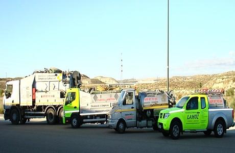 Flota vehículos Desatascos y Limpiezas Lahoz